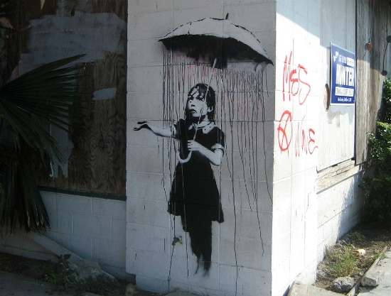 Bansky Raingirl Corner. Foto: Infrogmation of New Orleans via Wikimedia Commons